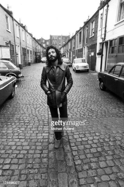 Cat Stevens portrait near Island Records' Basing Street studios London 25th May 1972