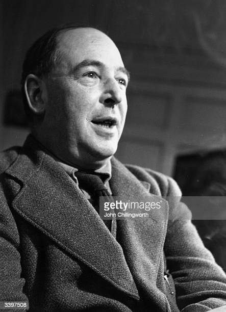British writer C S Lewis a Fellow and Tutor of Magdalen College Oxford Original Publication Picture Post 5159 Eternal Oxford pub 1950