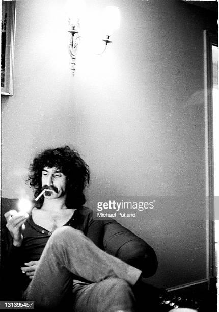 Frank Zappa portrait Royal Garden Hotel London 25th November 1971