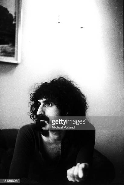Frank Zappa portrait Royal Garden Hotel London 25th November 1971