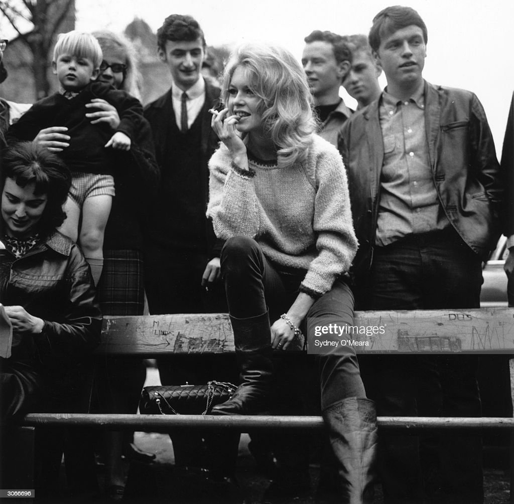 French actress Brigitte Bardot in Hampstead north London for the filming of 'The Adorable Beast'.