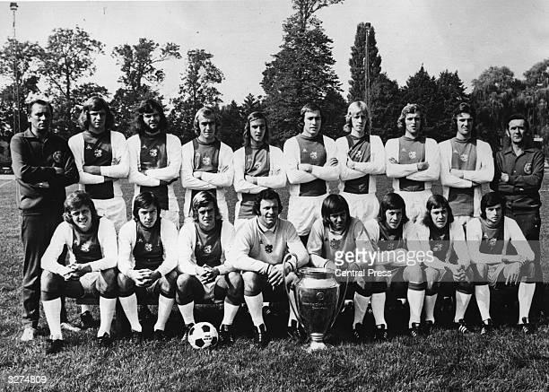 The Dutch soccer team Ajax FC holders of the European Cup