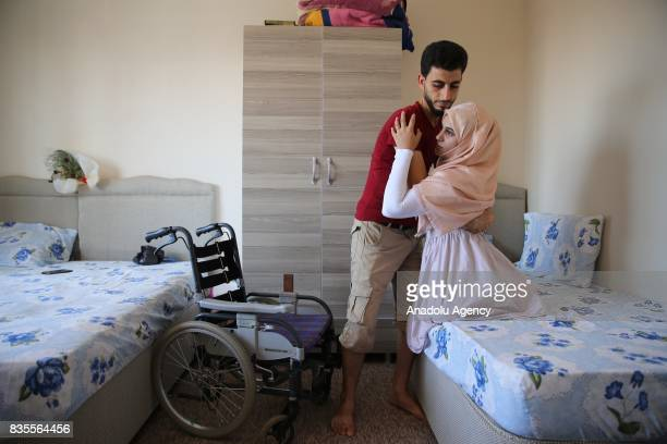 A 25yearold Syrian woman Nagan Elvan who had lost her both legs after an attack carried out 6 months ago by the war crafts belonging to Assad Regime...