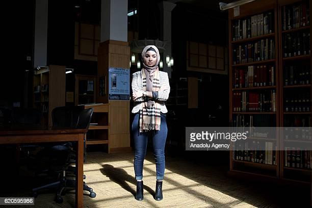 25yearsold Muslim woman Marwa Janini works as an immigration caseworker and a college instructor poses for a photo during an exclusive interview for...
