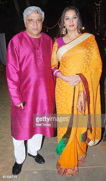 Javed Akhtar and Shaban Azmi at the GR8 Women Achievers Awards in Mumbai on February 26 2010