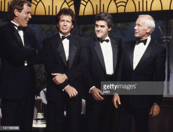 CARSON '26th Anniversary Show' Aired Pictured Talk show host David Letterman comedian Garry Shandling comedian Jay Leno host Johnny Carson Photo by...