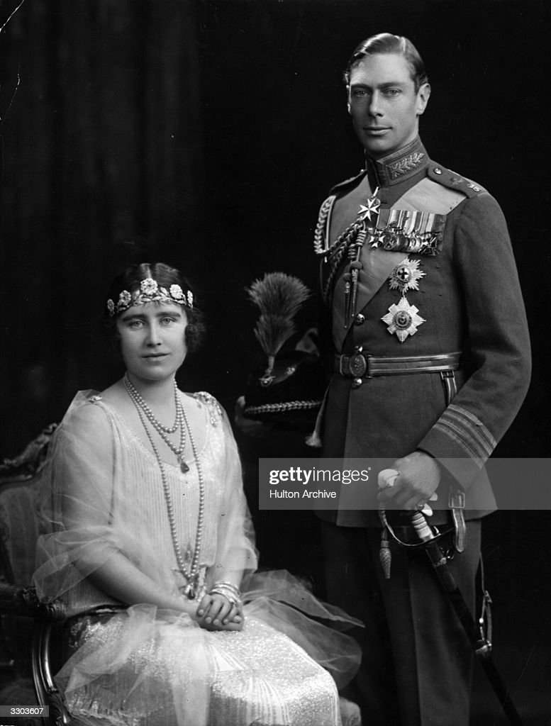 The Duke and Duchess of York on their marriage day later becoming King George VI and Queen Elizabeth