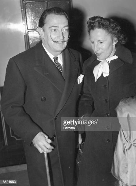 Spanish artist Salvador Dali and his wife Gala in London
