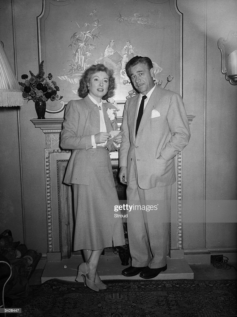 Hollywood film actress Greer Garson (1908 - 1996) with her new husband, Texas oil tycoon Buddy Fogelson.