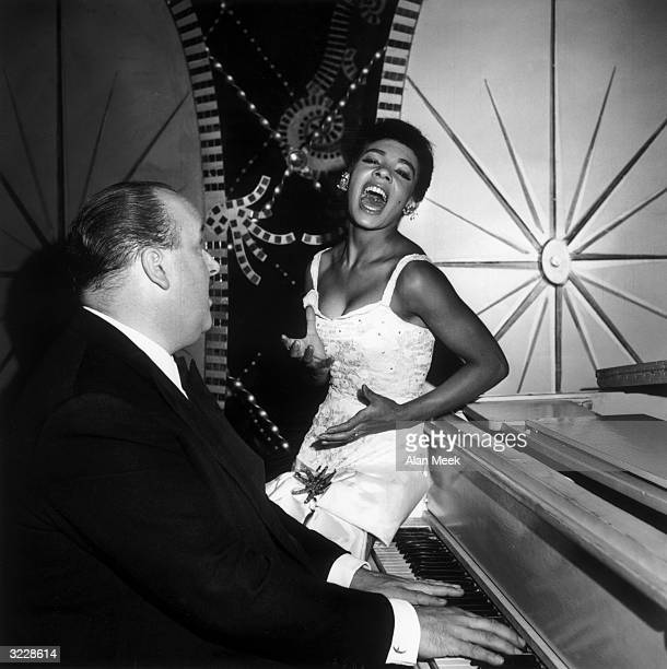 Singer Shirley Bassey with composer Ross Parker