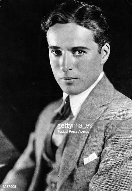 Portrait of a very young Charles Chaplin before he began to make his world famous films