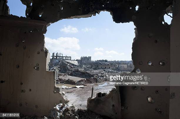 A view of the destroyed town of Kobani Syria