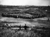 Macdonald Smith playing golf during the last Open Golf Championships to be held at Prestwick Prestwick golf course was founded in 1851 and hosted the...