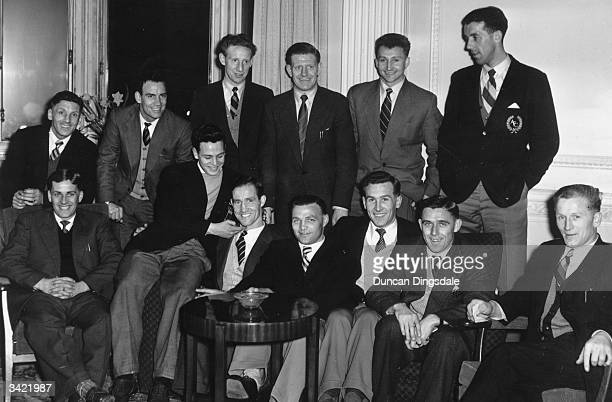Aberdeen FC Football players at the Carlton Hotel in Edinburgh on the eve of the match between Queen of the South and Aberdeen at Palmerston Park...