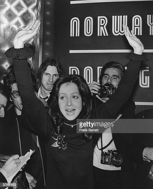 Greek born Vicky Leandros wins the 1972 Eurovision song contest for Luxembourg held in Edinburgh