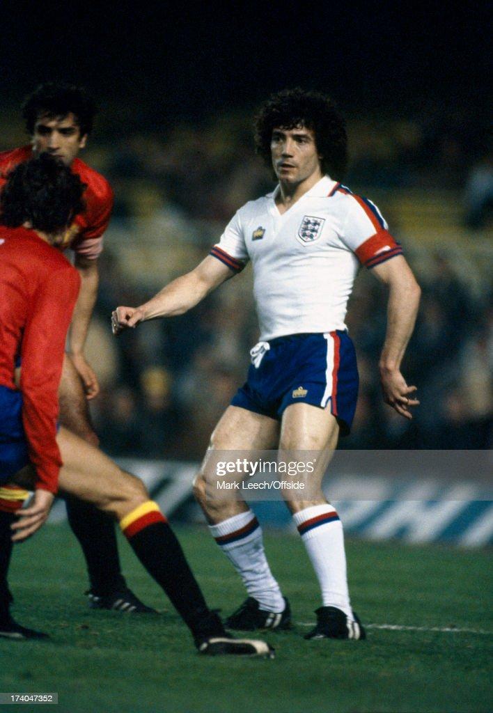 26th March 1980 International Football England v Spain Kevin Keegan