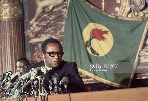 President Mobutu Sese Seko of the Democratic Republic of the Congo formerly Zaire during an official visit to Paris