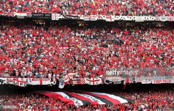 26th MAY 1999 UEFA Champions League Final Barcelona Spain Manchester United 2 v Bayern Munich 1 A portion of Manchester United's vast army of...