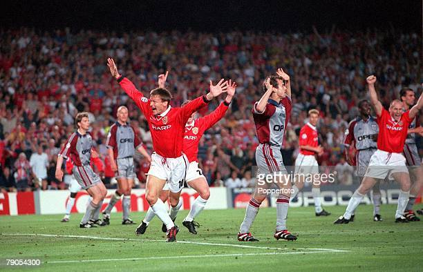 26th MAY 1999 UEFA Champions League Final Barcelona Spain Manchester United 2 v Bayern Munich 1 Manchester United's Teddy Sheringham is jubilant...