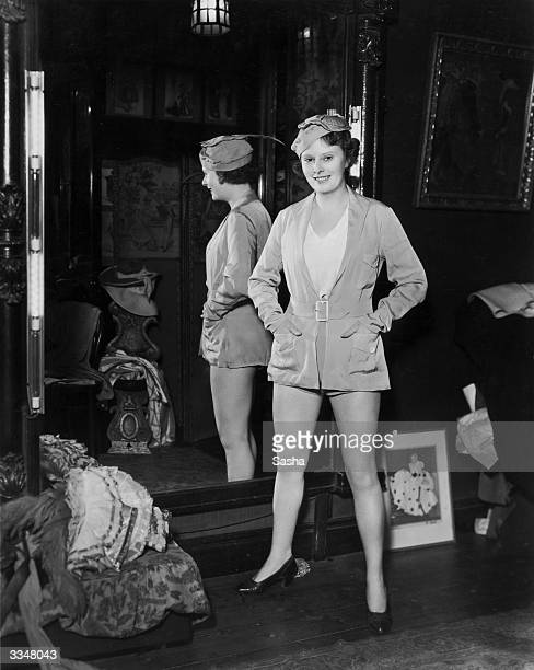 Vera Lennox as she appears in the pantomime 'Mother Goose'