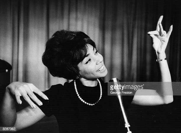 Singing star Shirley Bassey during rehearsals before the opening of her season at the Talk Of The Town theatre in London