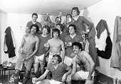 The players of Swindon Town FC after a match