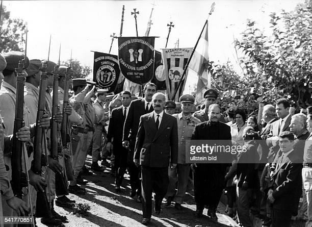 23031898 Politiker Militär Griechenland / ZypernFührer der zypriotischenUntergrundbewegung EOKA Oberkommandierendergriechischzypriotischen Armee G...