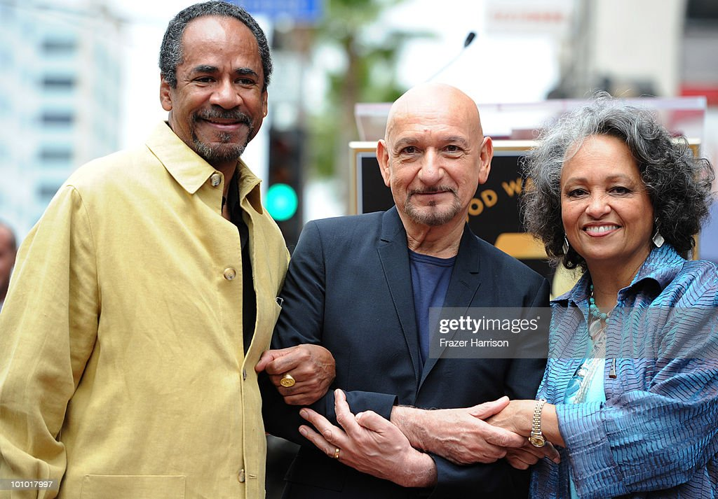 HOLLYWOOD - MAY 27Actor Sir Ben Kingsley (C) with Tim Reid and his wife, Daphne Reid attend the star ceremony honoring Sir Ben Kingsleywith the 2,410th Star on the Hollywood Walk of Fame on May 27, 2010 in Hollywood, California.