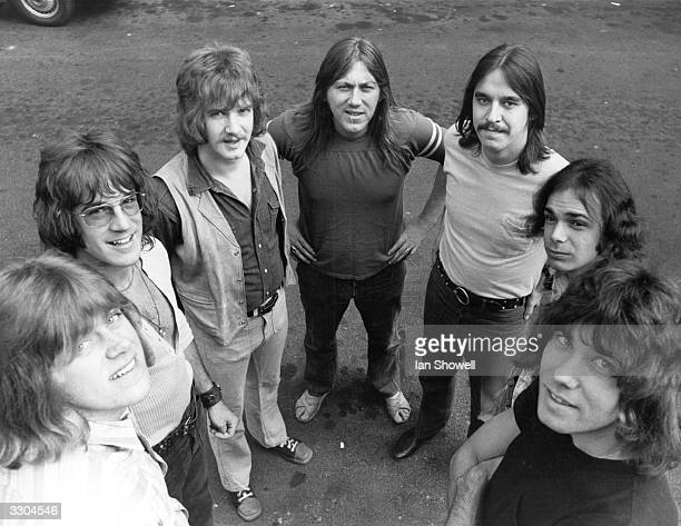 American rock band Chicago in England to top the bill at the 1970 Isle of Wight festival From left to right Pete Cetera James Pankow Lee Loughnane...