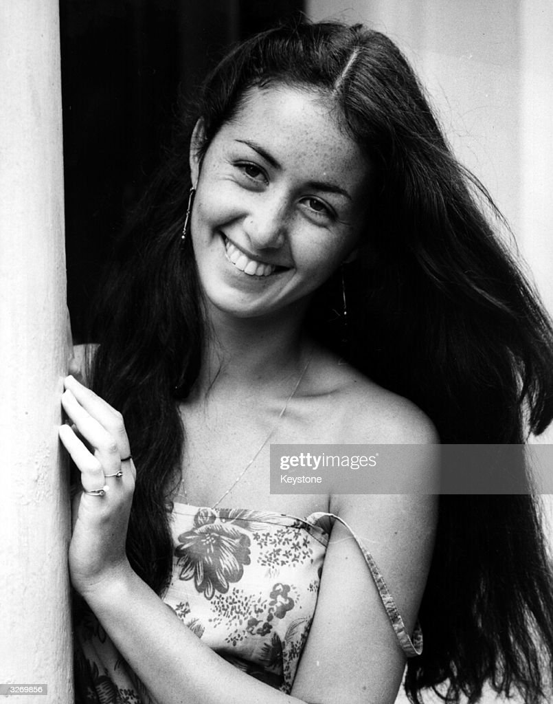Cecile Paoli, 19-year-old French actress, who is to star in the BBC TV serial 'Fair Stood the Wind for France' in London.