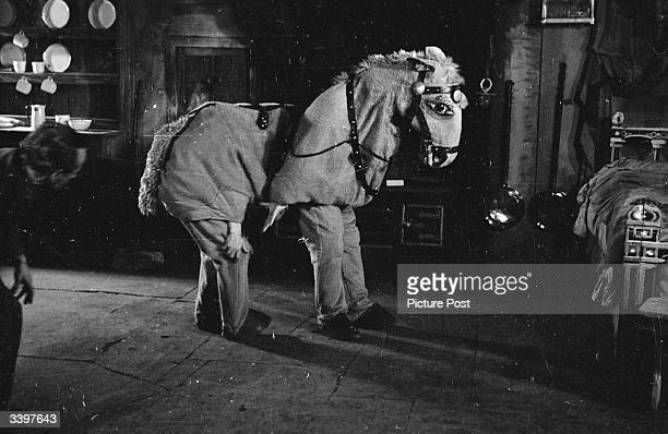 'Penelope' a panto horse appearing in 'Goody Two Shoes' at the Coliseum London who is thirty years old The front legs and brain of Penelope is Agar...