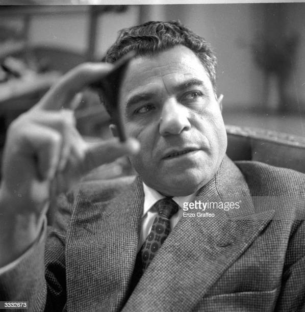 Italian shoemaker Salvatore Ferragamo who designs footwear for royalty and film stars and is credited with inventing the wedgie and the platform sole
