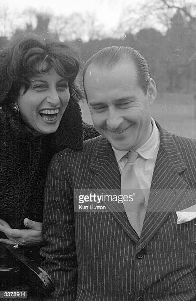 Italian screen actress Anna Magnani shares a joke with her lover film director Roberto Rossellini Original Publication Picture Post 4529 Makers Of...
