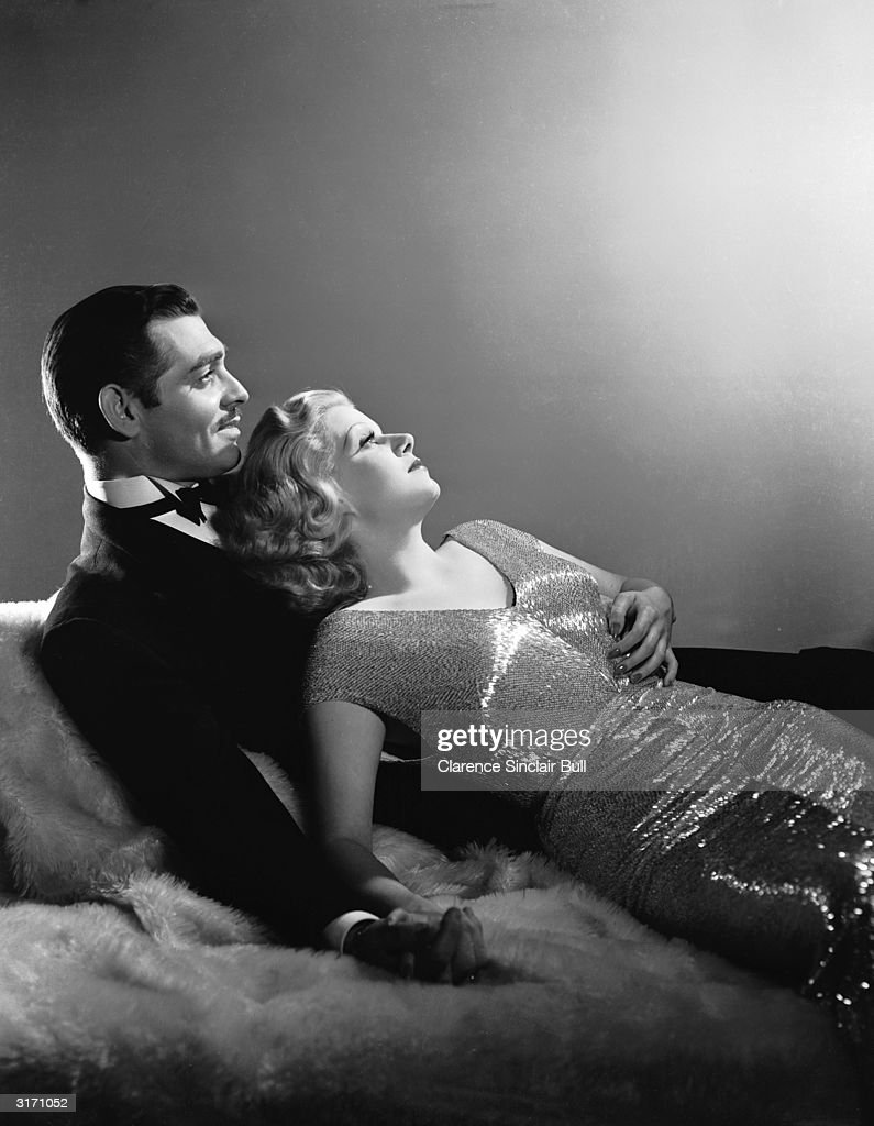 Clark Gable (1901 - 1960) and Jean Harlow (1911 - 1937) as they appeared in 'Saratoga', directed by Jack Conway. Harlow died, aged 26 eleven days after this picture was taken.