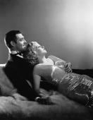 Clark Gable and Jean Harlow as they appeared in 'Saratoga' directed by Jack Conway Harlow died aged 26 eleven days after this picture was taken