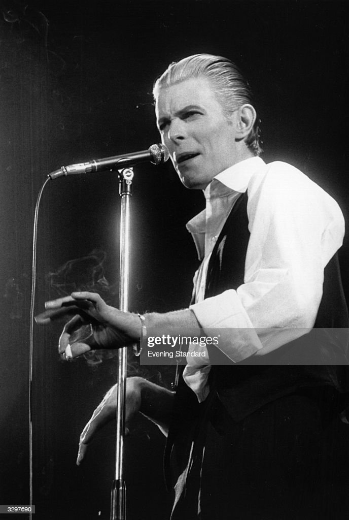 <a gi-track='captionPersonalityLinkClicked' href=/galleries/search?phrase=David+Bowie&family=editorial&specificpeople=171314 ng-click='$event.stopPropagation()'>David Bowie</a> performing live at Wembley stadium during his 'Station To Station' tour.
