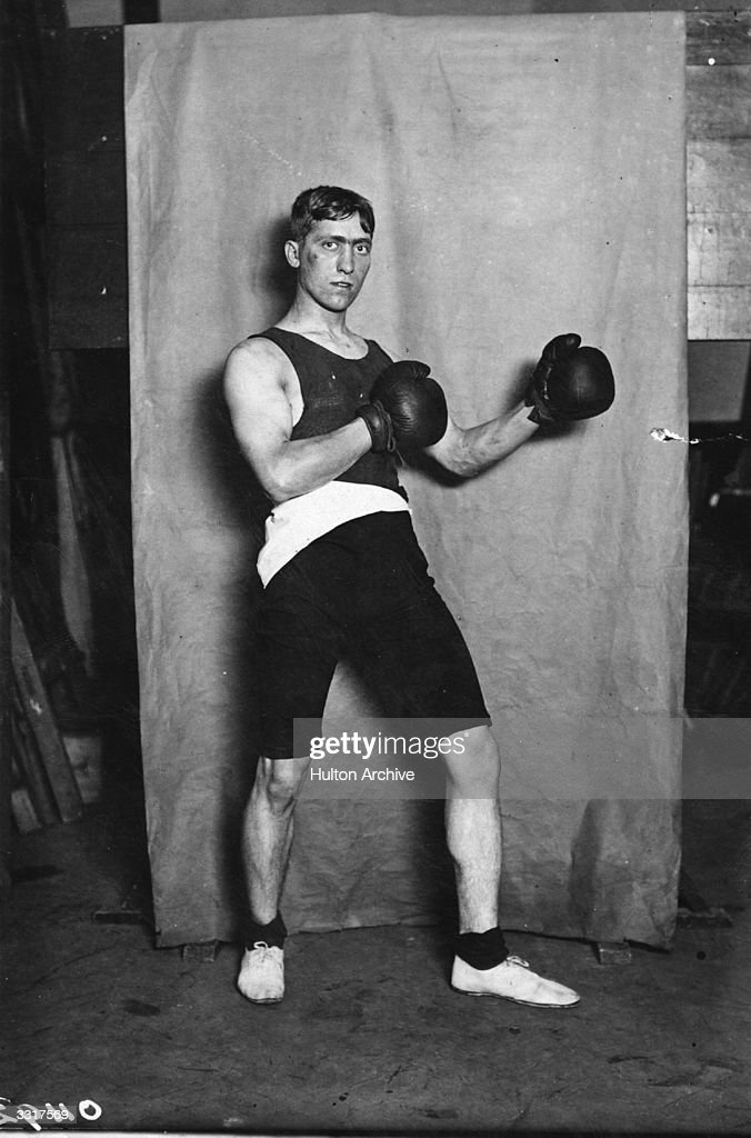 Frederick Grace of Great Britain winner of the Lightweight boxing title at the 1908 London Olympics.