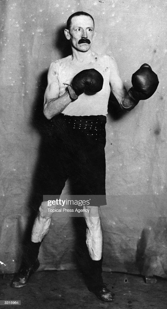 Richard Gunn of Great Britain who won the Featherweight title at the 1908 London Olympics. At 37 he was the oldest fighter ever to win an Olympic championship.