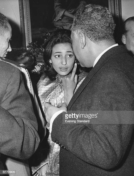 The Crown Prince of Morocco with Princess Nezha and the Moroccan Ambassador at the Knightsbridge Embassy London