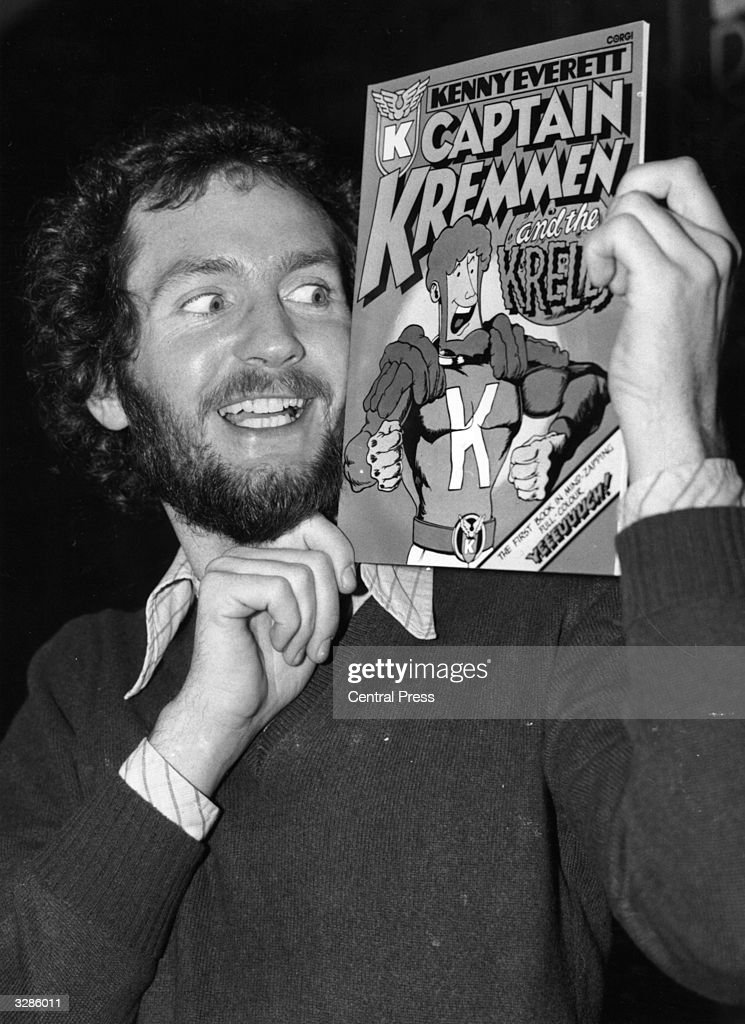 Disc jockey and TV personality Kenny Everett at the launch of his Captain Kremmen Cosmic Comic.