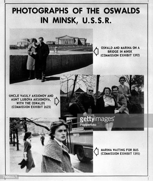 27th September 1964 Washington USA JFK Assassination Photographs released by the Warren Commission into the Dallas Texas USA Assassination of US...