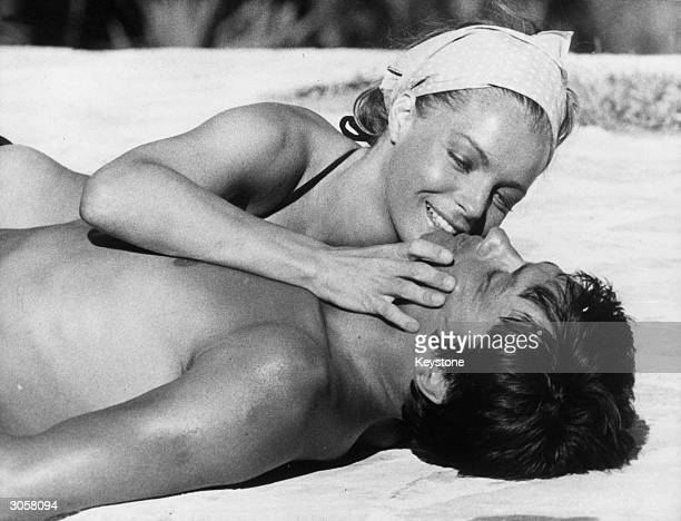 French actor Alain Delon and Austrian actress Romy Schneider star in Jacques Deray's tale of love and murder 'La Piscine'