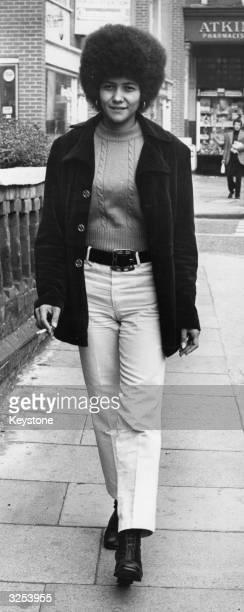Bobbi Sykes Australian black power leader walking along a street in London where she is trying to enlist international help for the Australian...