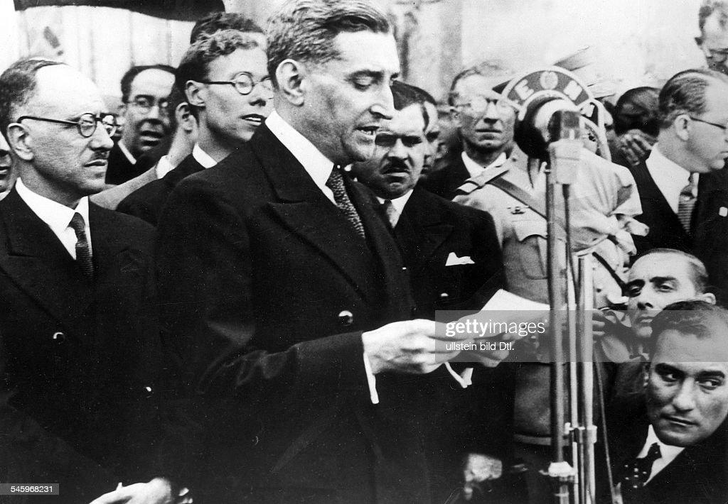 Politiker, PortugalMinisterpräsident 1932-1968bei einer Ansprache- 1937