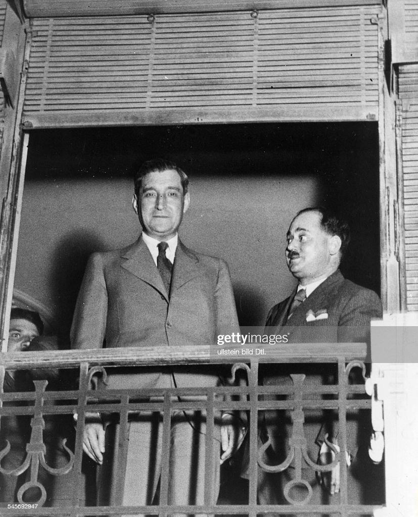 Politiker, PortugalMinisterpräsident 1932-1968mit dem Justizminister (r.) kurz nach dem Attentat von 1937