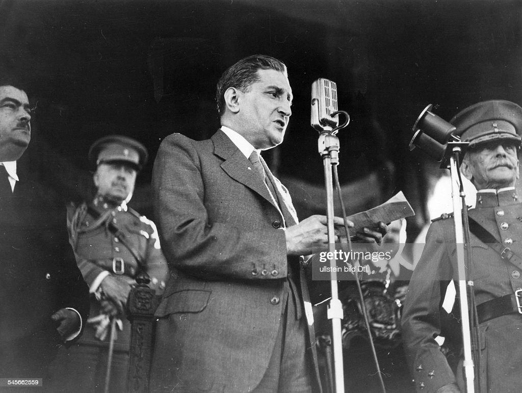Politiker, PortugalMinisterpräsident 1932-1968Porträt während einer Rede- 1943