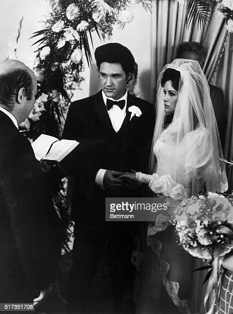 2/8/1979Hollywood CA Kurt Russell and Season Hubley play newleyweds Elvis and Priscilla Presley in the ABC television movie 'Elvis' The real couple...