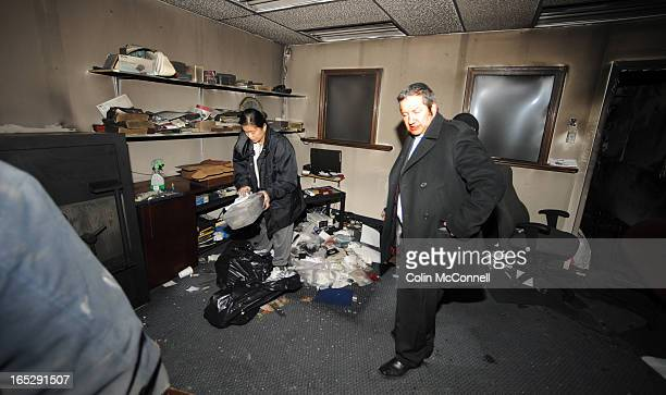 DEC 28th 2010pics of harold gersten in his burnt out store gold and jewellry buyers in toronto to go with story inthe aftermath of the bombing of...
