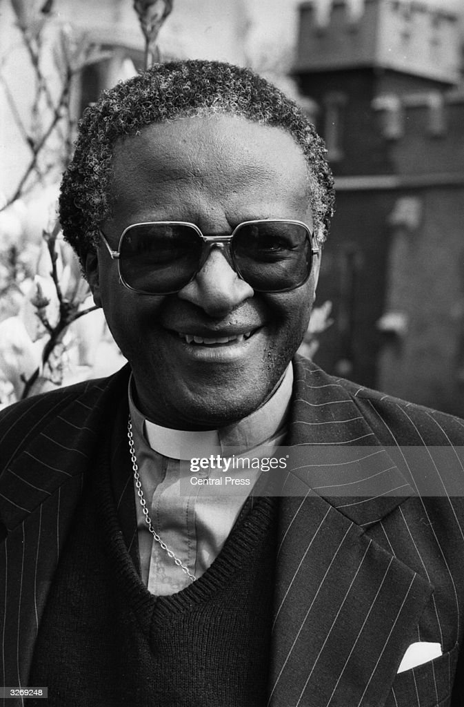 Bishop <a gi-track='captionPersonalityLinkClicked' href=/galleries/search?phrase=Desmond+Tutu&family=editorial&specificpeople=214730 ng-click='$event.stopPropagation()'>Desmond Tutu</a> of South Africa, a bishop in the Anglican Communion, and General Secretary of the South African Council of Churches.