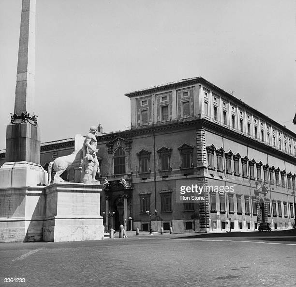 The Quirinale Palace in Rome a 17th Century building traditionally the residence of the president of the Republic of Italy
